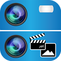 Split Video and Camera icon