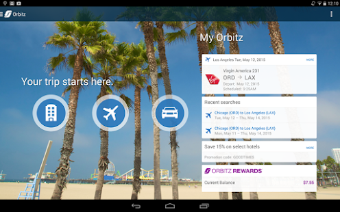 Orbitz - Flights, Hotels, Cars Screenshot 14