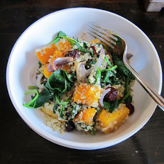 Quinoa Salad with Butternut Squash and Spinach.