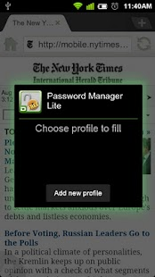 Dolphin Password Manager Lite - screenshot thumbnail