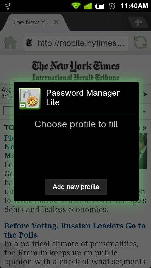 Dolphin Password Manager Lite - screenshot