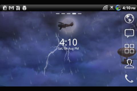 Lightning Live Wallpaper Clock - screenshot