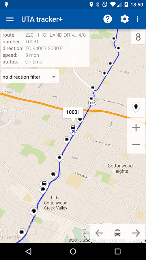 Transit Tracker - UTA- screenshot