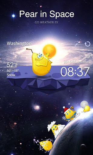 玩免費天氣APP|下載Pear in Space GO Weather EX app不用錢|硬是要APP