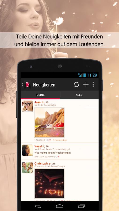 Android app neue leute kennenlernen