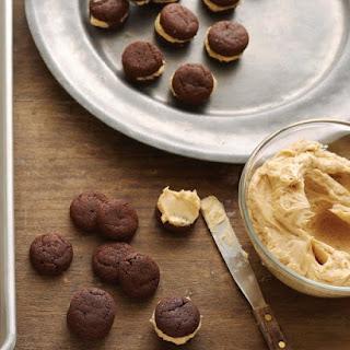 Chocolate-Caramel Sandwich Cookies.