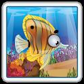 游泳的鱼划伤的孩子 icon