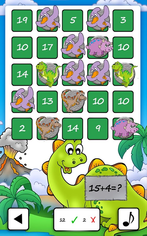 Dino Math Bingo- screenshot