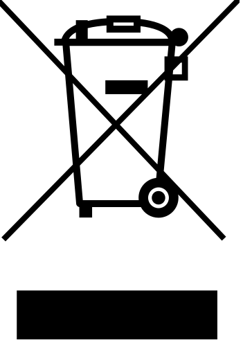 This symbol means that the equipment must not be disposed of as unsorted municipal waste.