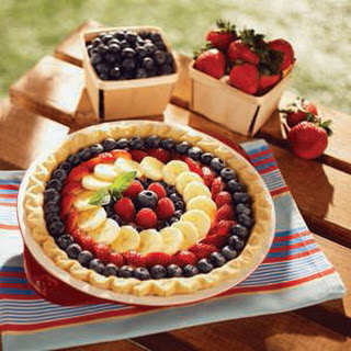 Fresh Fruit Cream Cheese Pie.