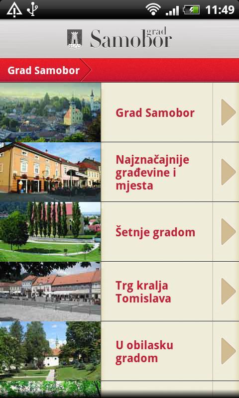Samobor info - screenshot