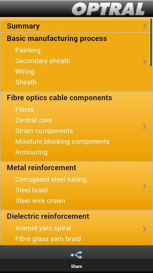 OPTICAL CABLE AND APPLICATIONS - screenshot