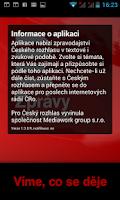 Screenshot of Zprávy ČRo