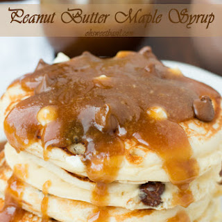 Peanut Butter Maple Syrup.