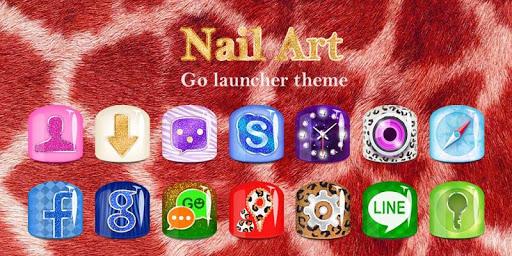 Nail Art GO Launcher Theme