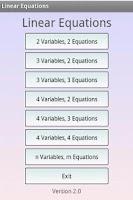 Screenshot of Linear Equation System Solver