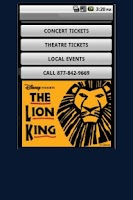 Screenshot of The Lion King Tickets