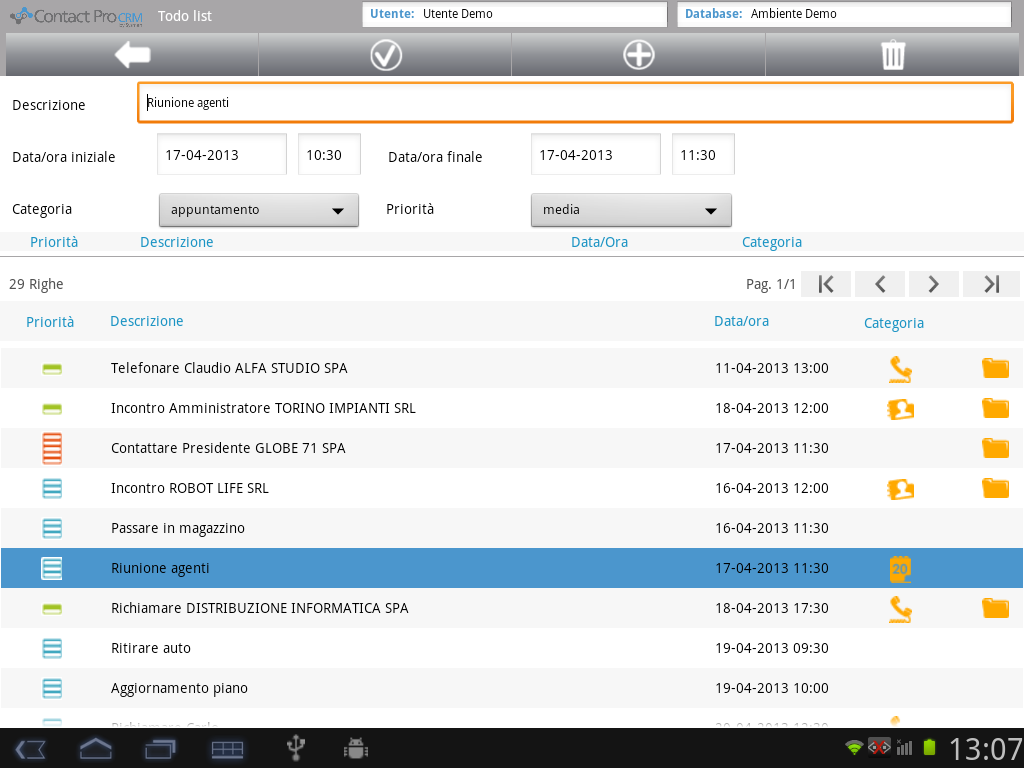 Contact Pro Mobile CRM- screenshot