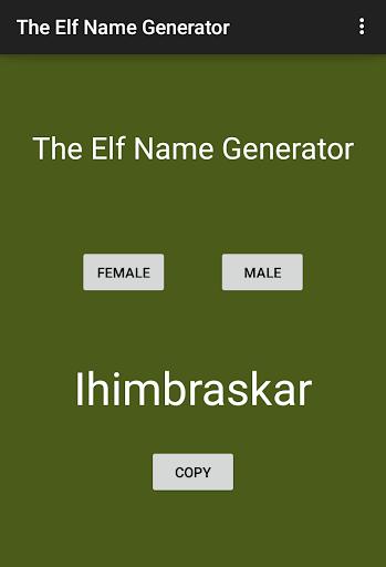 The Elf Name Generator