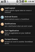 Screenshot of EventGhost