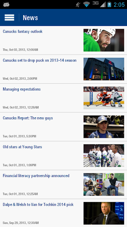 Vancouver Canucks - screenshot
