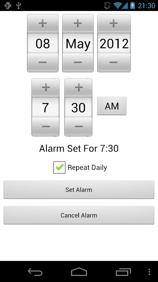 Maths Alarm Clock: captura de pantalla