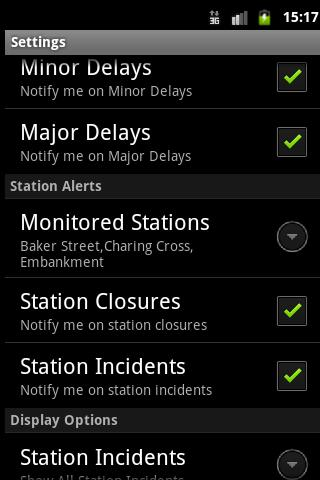 London Tube Alerts- screenshot