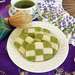 Matcha Checkerboard Cookies.