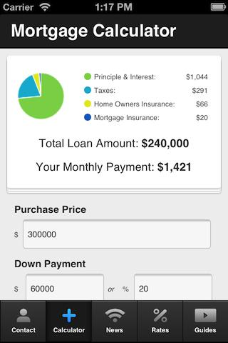 Allison Lord's Mortgage Cal - screenshot