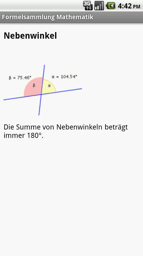 Formelsammlung Mathematik Pro - screenshot