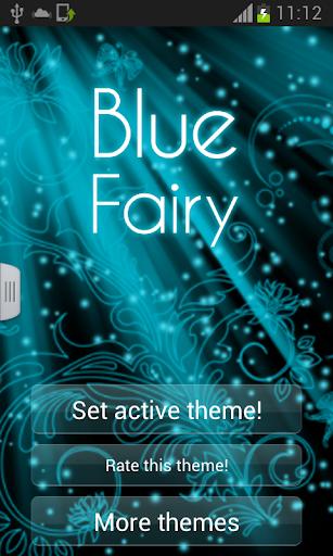 仙女藍色鍵盤