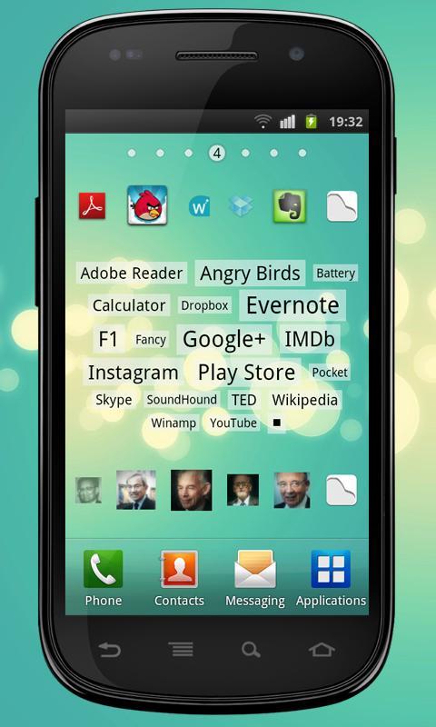 Tagy apps & contacts widgets - screenshot