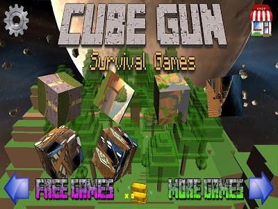 Cube Gun 3d - Free Mine FPS vC-1