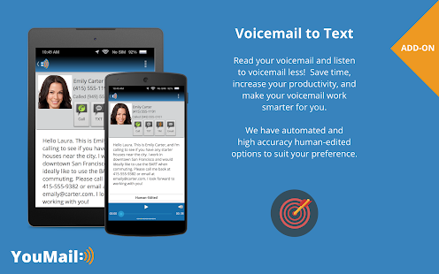 YouMail Visual Voicemail- screenshot thumbnail