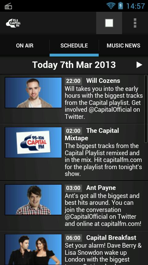 Capital FM Radio App - screenshot