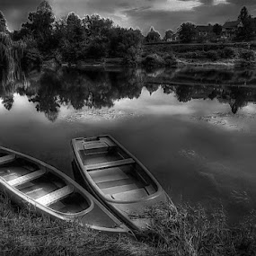 two by Mirela Korolija - Black & White Landscapes