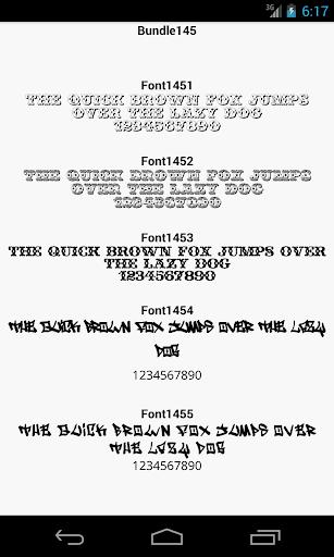 Fonts for FlipFont 145