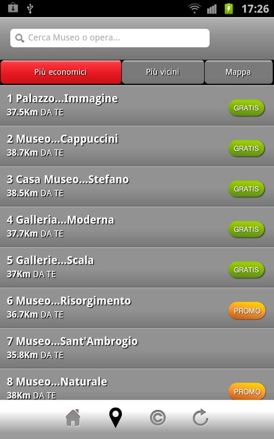 milanomusei- screenshot