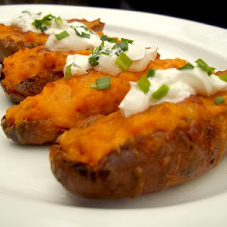 Sweet Potato Skins With Bacon.