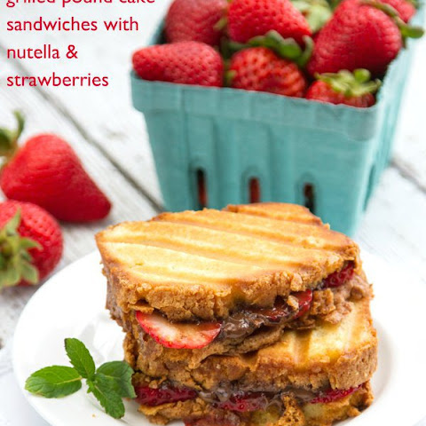 Pound Cake Nutella And Strawberries