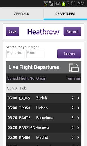 Heathrow Flight Status LHR