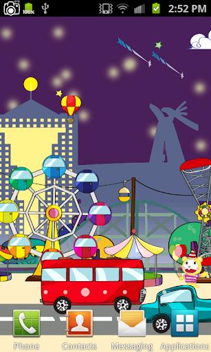 Cartoon Park Live Wallpaper