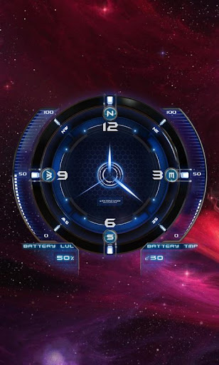 Satelite Clock Live Wallpaper