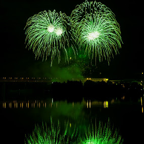 Fireworks 2013 in Pilsen 8 by Martin Zenisek - Abstract Fire & Fireworks ( mirror, water, pilsen, fireworks, night,  )