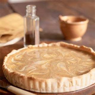 Pumpkin-Swirl Cheesecake Tart.