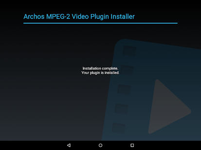 Archos MPEG-2 Video Plugin Screenshot 1