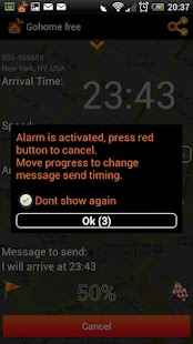 Gohome Arrival time sms - free - screenshot thumbnail