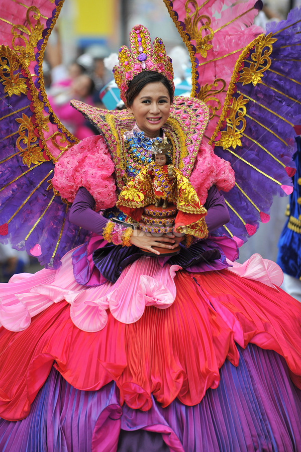 Sinulog Queen Wins by Ferdinand Ludo - News & Events World Events ( happy, excited, eager to receive award, , Free, Freedom, Inspire, Inspiring, Inspirational, Emotion )