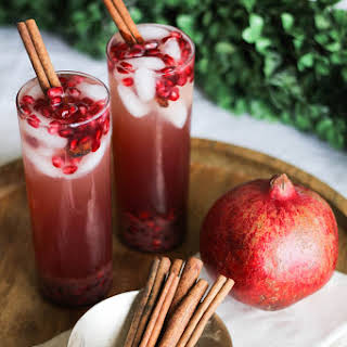 Lemon, Ginger + Pomegranate Sparkler.