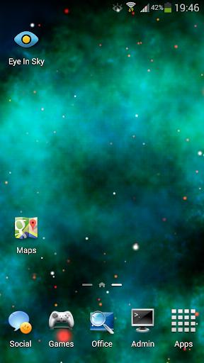 青色星雲動態壁紙